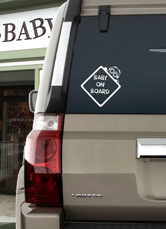 Cute Baby On Board Sticker  Car Van Truck Window Bumper Door Safety Sign Decal