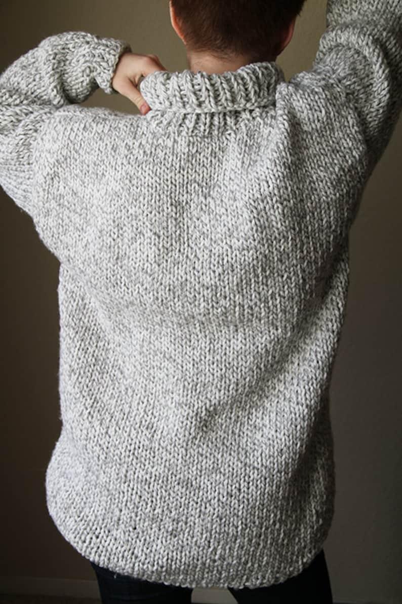 ba4f6b1c9e Oversized hand knitted gray sweater. Women s winter