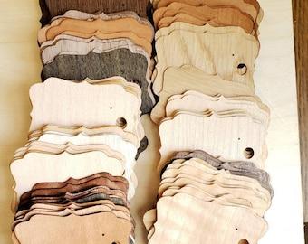 2x2.75 inchWholesale packs of wood vaneer earring cards