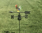 Cast Iron Rooster Weathervane, Weather Vane, Garden Decor, Ground Stack, Farm, Country, Farmhouse