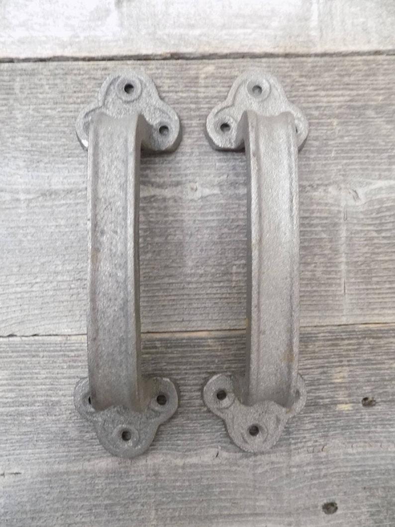 Garage Door Decorative Knocker Cast Iron Set of Two