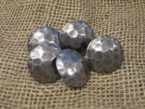 "20 Clavos Decorative Furniture Nail Heads Worn Silver 1 1//2/"" Tacks Round"