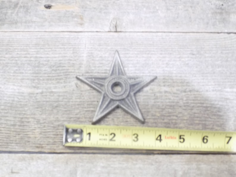 "6 Cast Iron Stars Washer Texas Lone Star Ranch 3 7//8/"" Large Primitive Raw Craft"