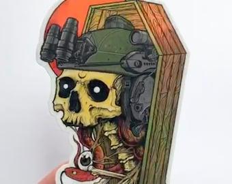 Holo Coffin Sticker