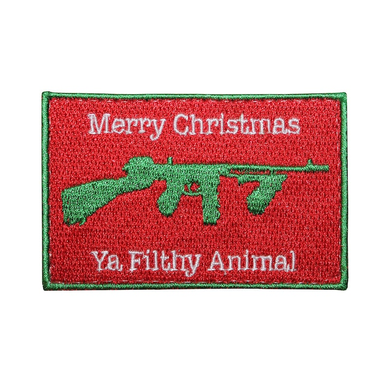 Merry Christmas Ya Filthy Animal Patch image 0