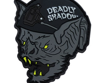 The Bat Deadly Shadow PVC Patch