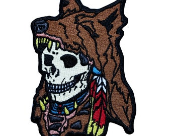 Wolf Warrior Skull Patch