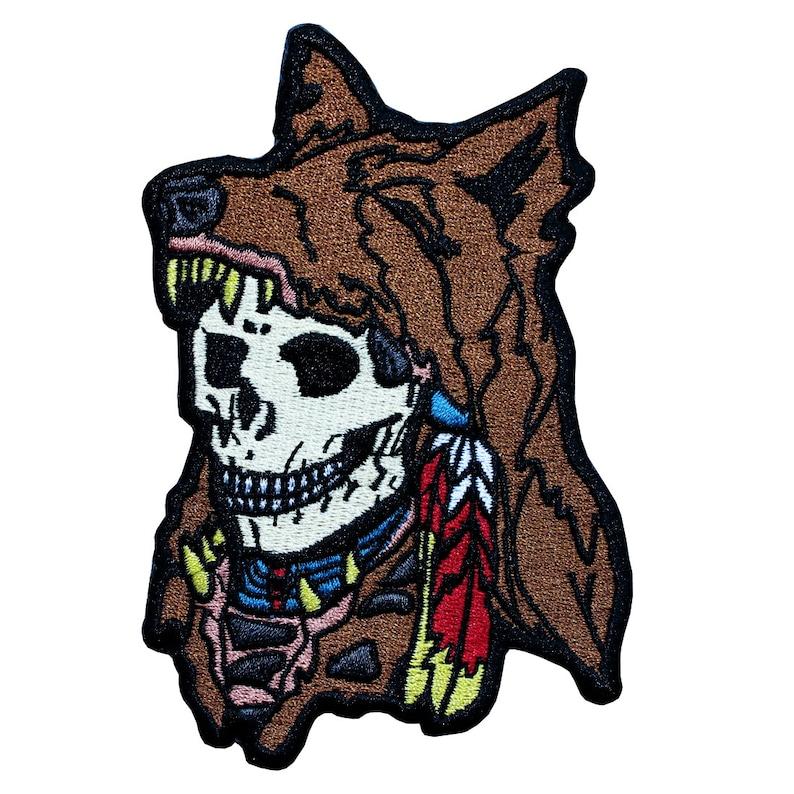 Wolf Warrior Skull Patch image 0