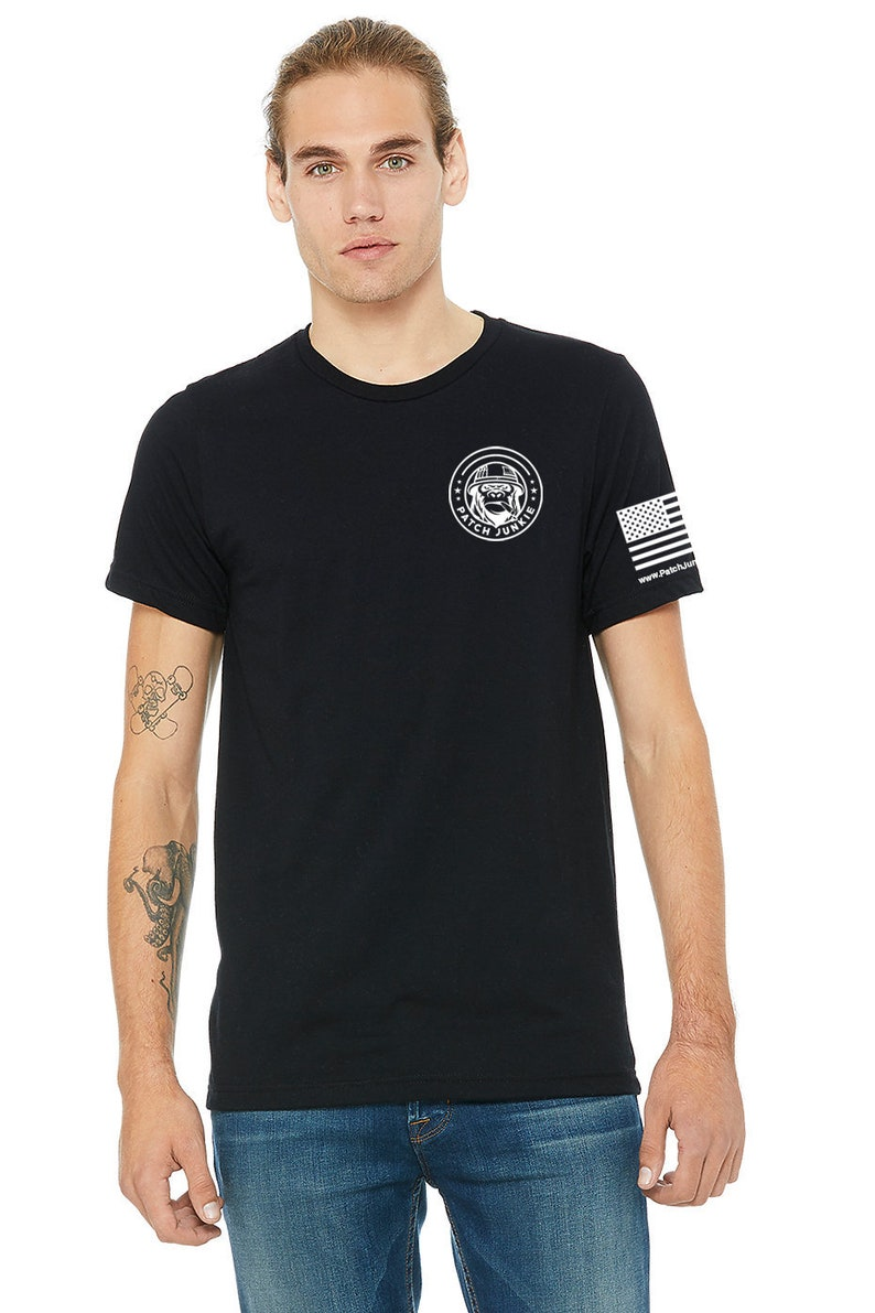 Patch Junkie T-Shirt Black image 0
