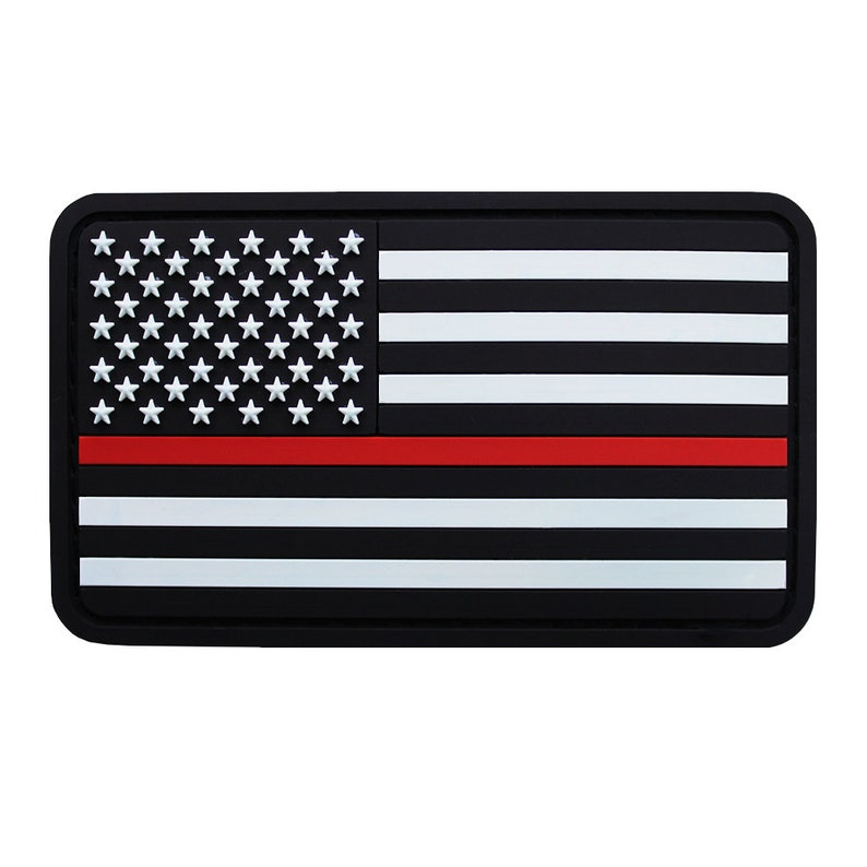 Thin Red Line PVC Patch image 0