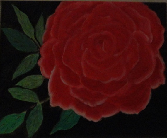 Red Rose Instant Digital Download Art Handpainting by Rosie Foshee Red Rose Floral Still Life Art Print Home Decor Florist Wall Decor