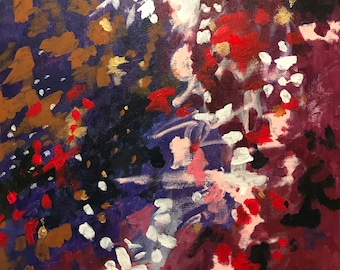 """Original Abstract Acrylic Painting on 18""""x18"""" Gallery Wrap Canvas"""