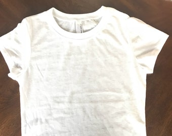 23 WHITE Blank Burnout Tshirt Toddler to Junior fit