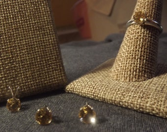 Golden Citrine Jewelry Set