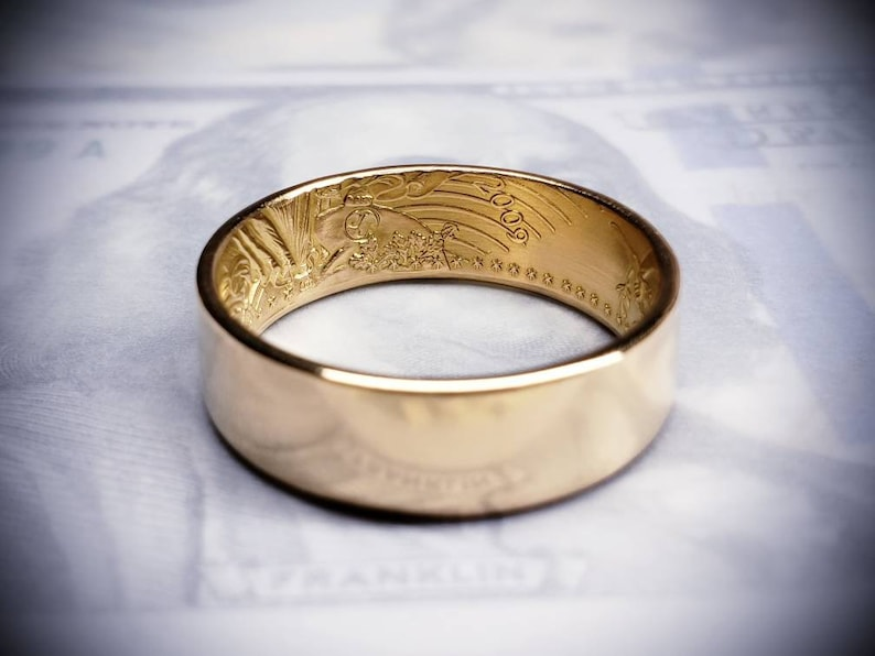 1/2 ounce American Gold Eagle Coin Ring (22k ~ 91% pure gold!)
