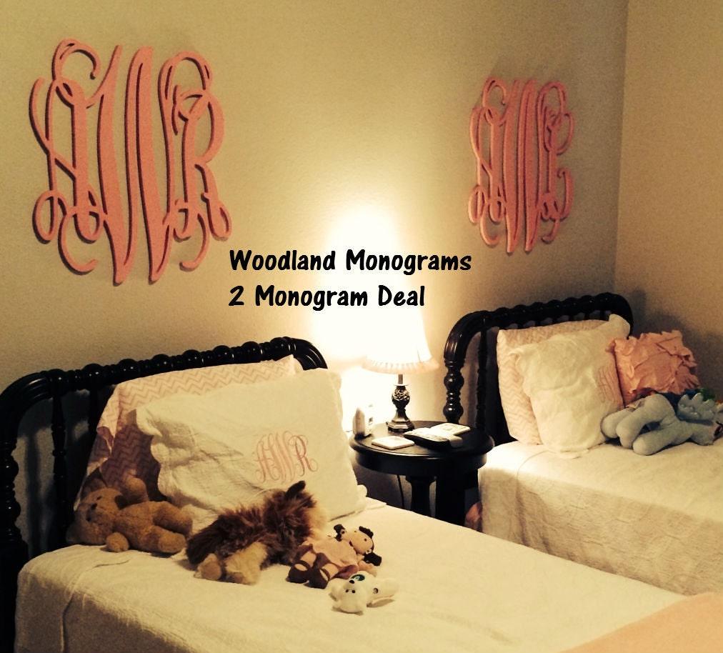 2 Monogram Pack Deal: Wall Decor Wooden Monogram 18   Etsy