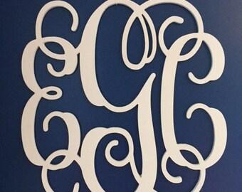 Sale Item Wooden Monogram Letters Vine Room Decor Nursery Decor Wooden Monogram Wall Art Large Wood monogram wall hanging wood