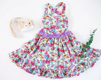 Handmade in USA The Rissa Romper Serenity Size 18 24M Ashley Jade Creations Toddler /& Girls Outfit