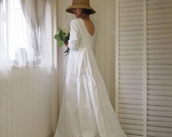 Cotton wedding dress | Etsy