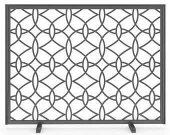 Custom Metal Fireplace Screen (Circa)