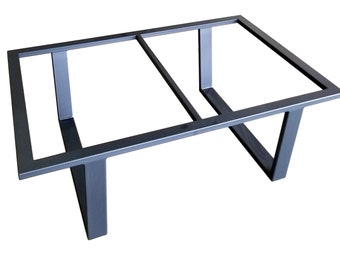metal coffee table base henry - Metal Frame Coffee Table