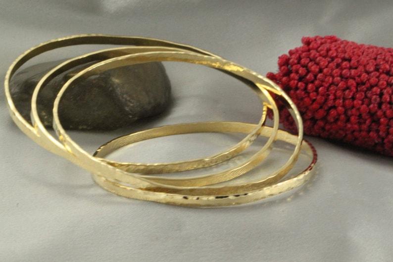 2779e5e1e3a Stacking Bangle Bracelets Gold Plated Bangles Hammered   Etsy