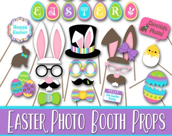 Easter Photo Booth Props and Party Decorations - Happy Easter Printables - Over 45 Images - Digital Download - INSTaNT DOWNLoAD