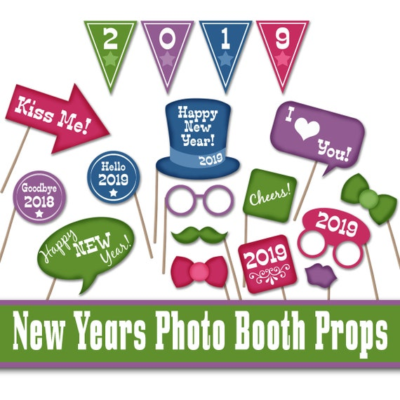 2019 New Years Eve Printable Photo Props