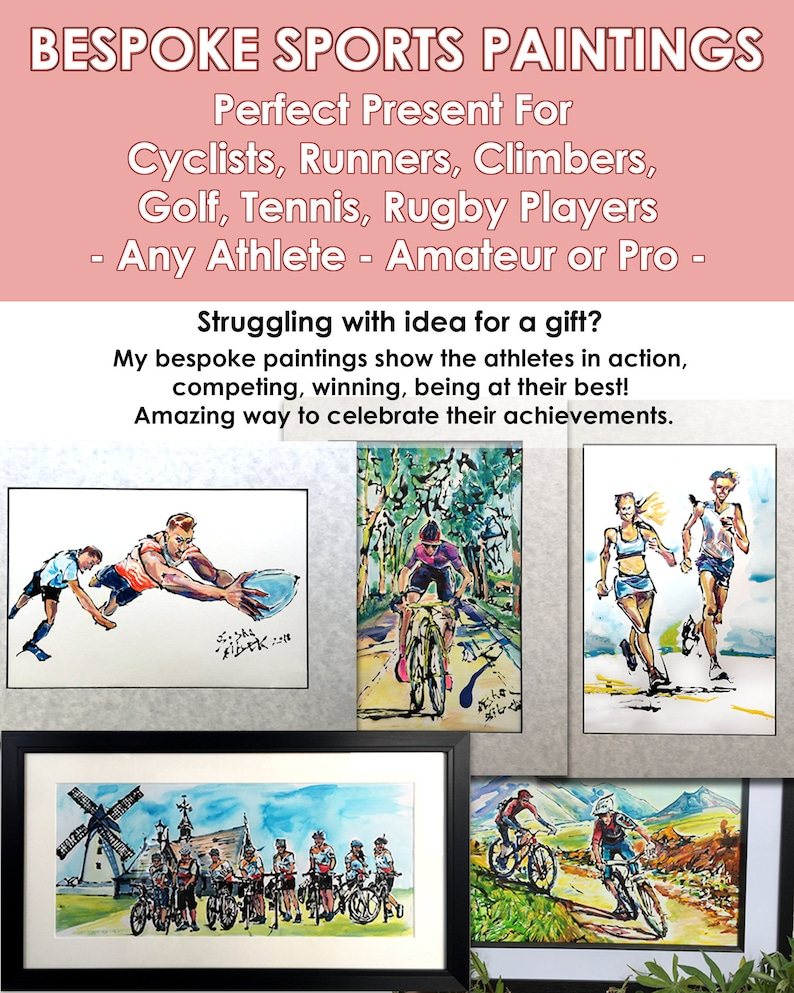 Portrait From Your Photo for Cyclist Customised Gift For image 0
