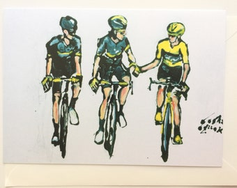 A5 CARD, Chris Froome, Tour De France, Cycling Race Card, World's Famous Cycling Races, Bicycle Card, Sports Card, Greeting Card