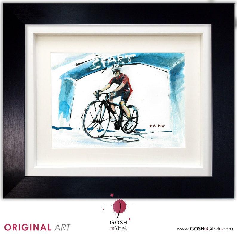 Cycling Race Original Painting Bike Painting Tour De France image 0