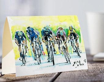 A5 Team Sky CARD, Tour de France, Chris Froome, Cycling Race Card, Cycling Tour Card, Bicycle Card, Sports Card, Greeting Card, Origina