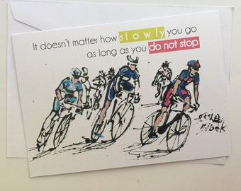A5 CARD, Tour de France, Chris Froome, Cycling Race Card, Bicycle Tour Card, Biking Card, Sports Card, Greeting Card