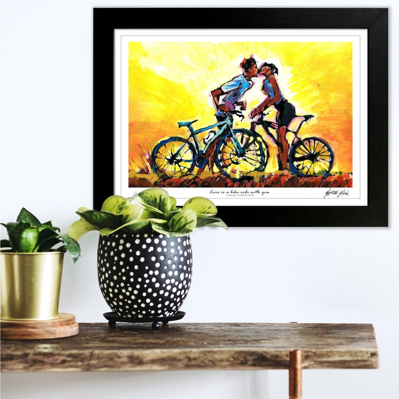 Love Is Bike Ride With You Kissing Cyclists Cycling image 0