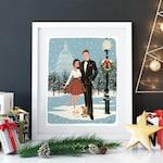 Custom Christmas Card Portrait -Personalized Christmas Cards Design, Christmas Decorations, Christmas Gifts, Custom Portrait