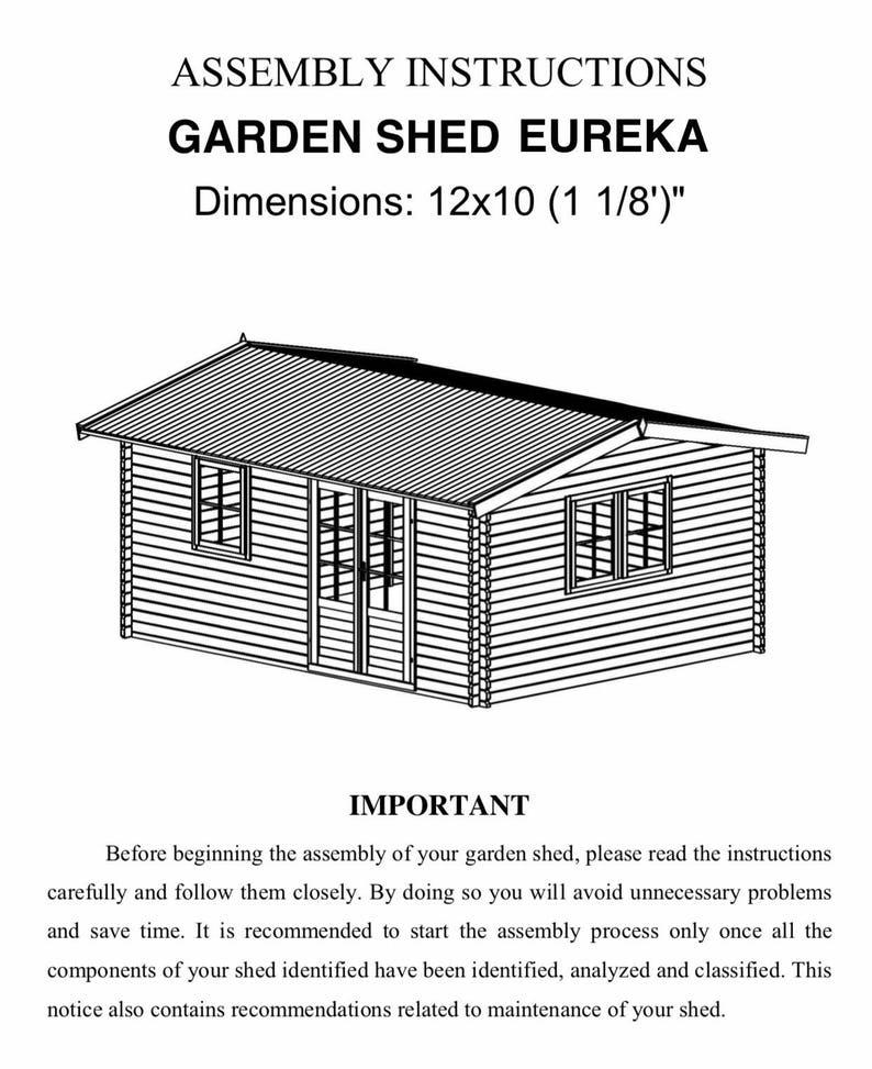 Eureka- Guest house kit, storage shed kit, wooden cabin kit, tiny house kit