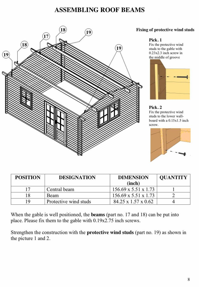 Eureka- Guest house kit, storage shed kit, wooden cabin kit, tiny house kit