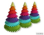 Christmas decoration tree, rainbow ornament crochet amigurumi PATTERN pdf