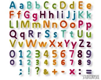 Gehaakt Alfabet Patroon Kleine Letters Cijfers Leestekens Etsy