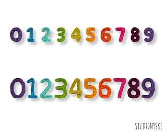 Alphabet numbers pattern crochet large small birthday garland