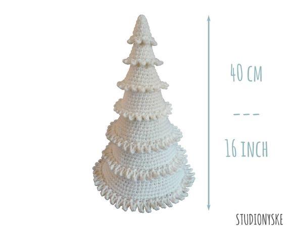 Witte Kerstboom Gehaakt Grote Amigurumi Kerstversiering Etsy