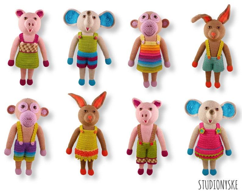 Birthday present child  8 large amigurumi animals crochet image 0