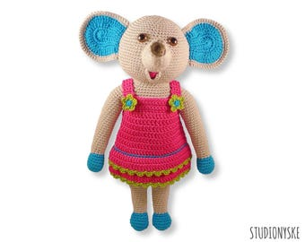 Doll crochet PATTERN, amigurumi toy, stuffed animal, Elephant MOM pdf