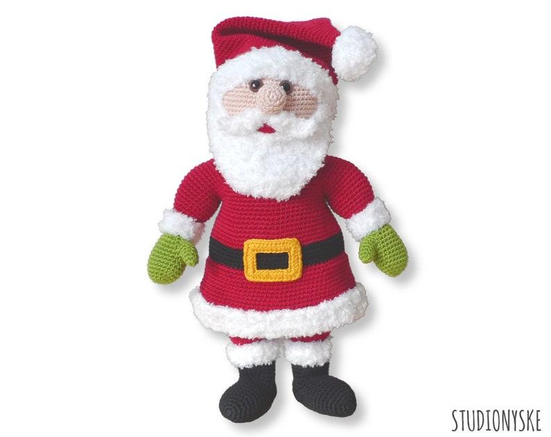 Santa Claus amigurumi pattern Holiday crochet Christmas toy image 0