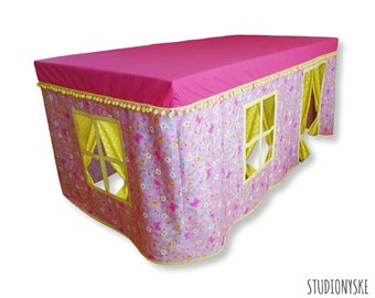 Tablecloth tent PATTERN flower house kids playhouse DIY PDF