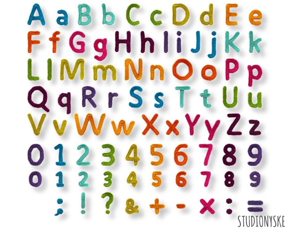 Applicatie Alfabet Patroon Haken Grote Kleine Letters Cijfers Etsy
