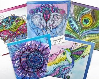Random Selection of 5 Art Greetings Cards