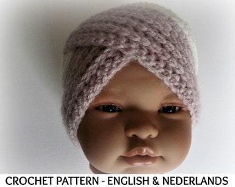 English + Dutch Pattern - Winter Baby   Toddler Turban Beanie Noura sizes 0  - 24 months f3e56750520