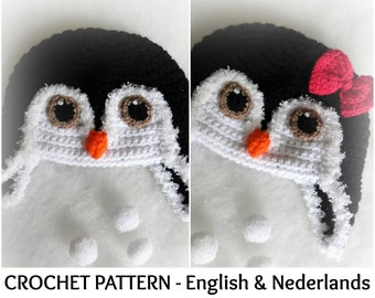 95aa5b21b38 English + Dutch Pattern - Baby Penguin Beanie Boys and Girls 0 - 18 months