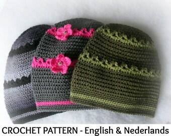 Engels Nederlands Haakpatroon Baby Muts Cupcake 0 18 Mnd Etsy